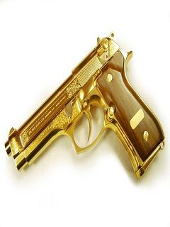 Gold Gun Wallpaper Golden Gun240x320320x240wallpaperbackground