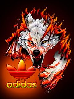 Download · Wolf adidas,240x320,320x240,wallpaper,background Download