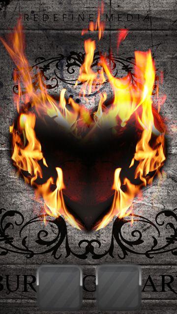 Burning Heart,360x640,640x360,wallpaper,background,n97,5800,5230,5530 ...