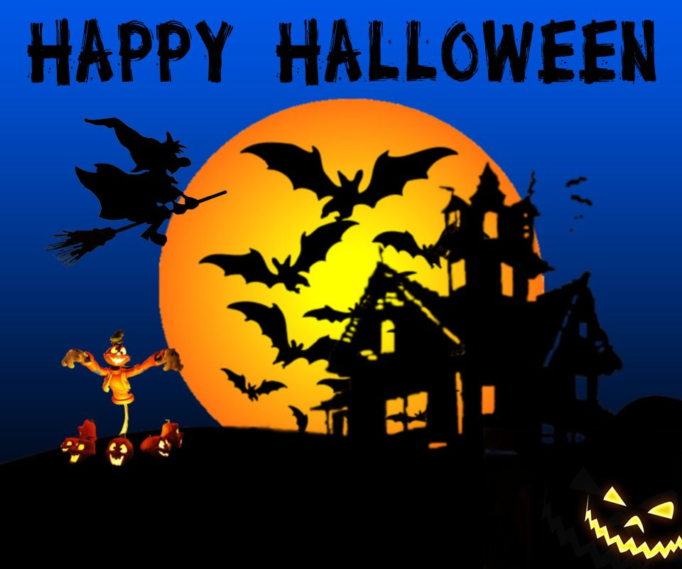 Free Mobile Happy Halloween Background Wallpapers